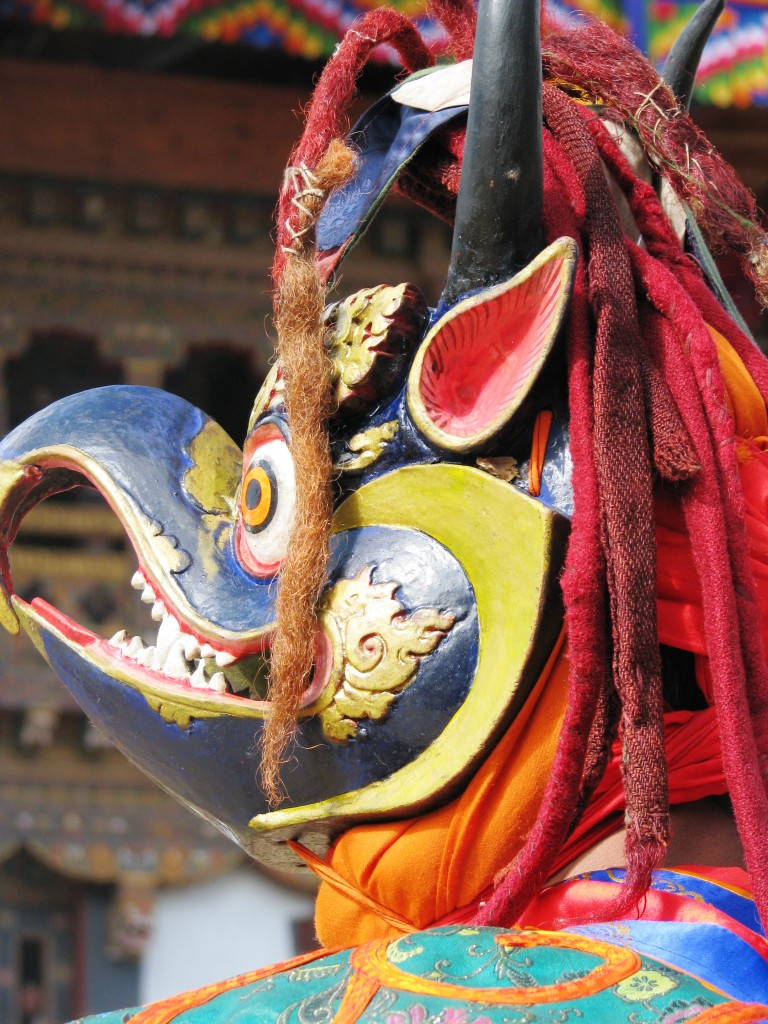 Techu -Garuda Mask dance in Bhutan